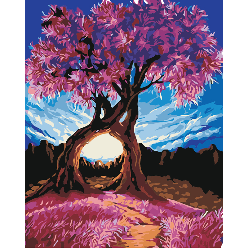 Calligraphy diy Oil Painting By Numbers Canvas Pink Love ...