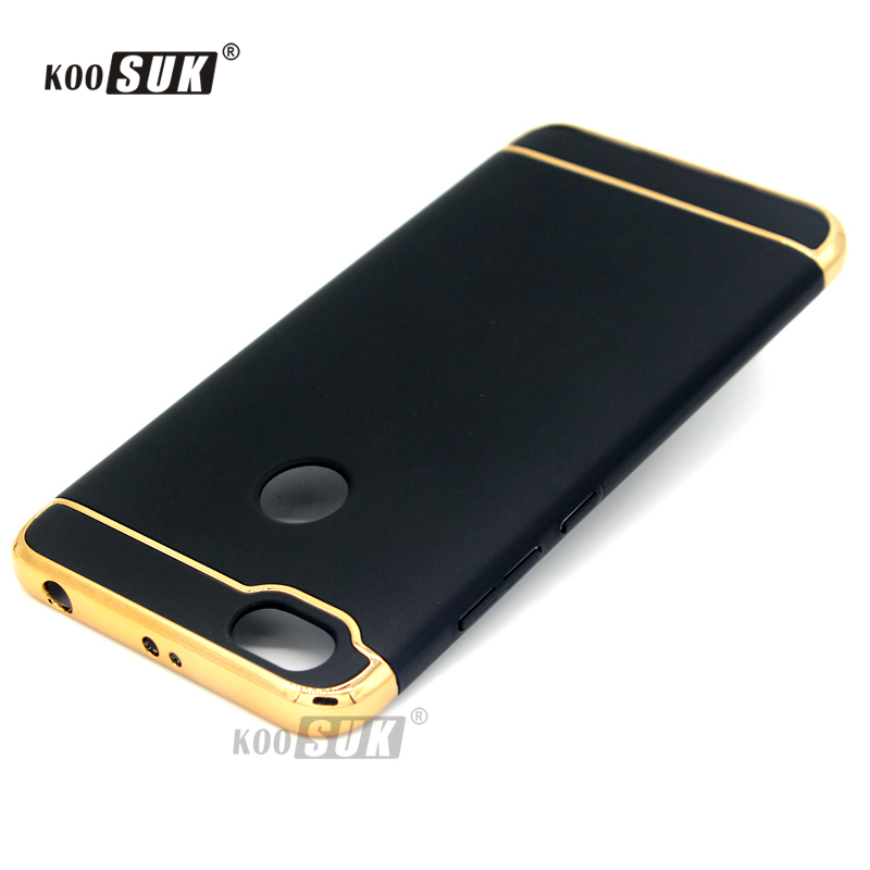the best attitude 7d7c6 e4086 US $3.99 20% OFF|Xiaomi Redmi Note 5A Prime /Red Mi Y1 Protect Case Coque 3  in 1 Gold plated Back Cover Redmi Note 5A Y1 Lite PC Hard Phone Shell-in ...