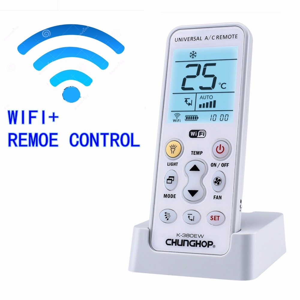 WIFI Universal  A/C controller Air Conditioner air conditioning remote control CHUNGHOP K-380EW universal 1 5 lcd air conditioner a c remote control controller white 2 x aaa