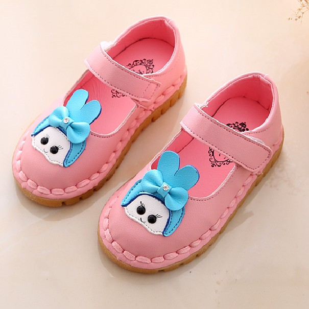 2018 Spring Girls Child Single Shoes Cow Muscle Leather Outsole Princess Shoes Soft Baby Shoes Children shoes