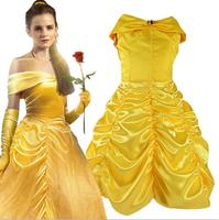 2017 Kids Girl Beauty And Beast Cosplay Carnival Costume Kids Belle Princess Dress For Christmas