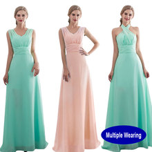 Beauty Emily Multi Wearing Pink Chiffion Bridesmaid Dresse 2018 A-line Wedding Party Prom Dresses Vestido De Festa Party Dresses beauty emily wine red lace party prom dresses 2019 short for women a line half sleeve formal party prom homecoming dresses