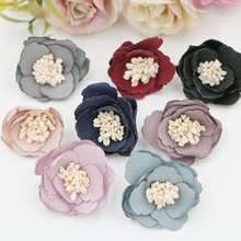 new 3cm  Mini ironed rose Flowers For Girls Kids Hair Accessories shoes garment accessories 120Pcs/lot