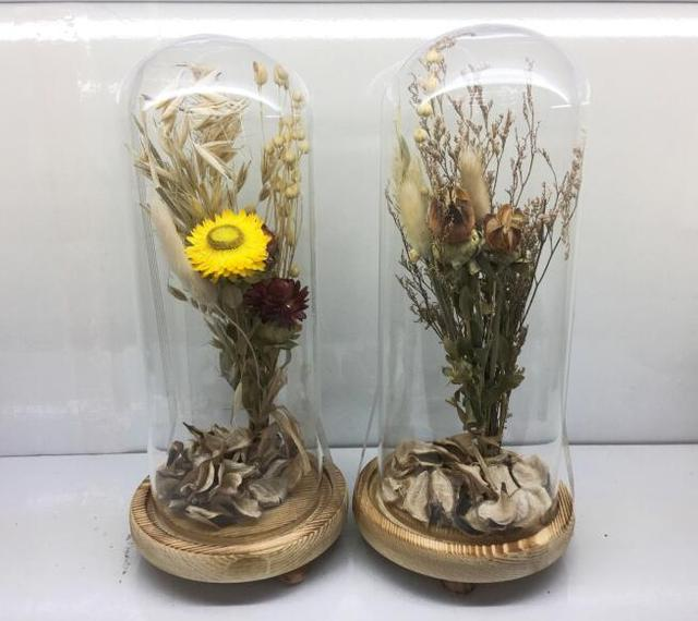 Factory outlet wedding decoration micro landscape dry flower glass factory outlet wedding decoration micro landscape dry flower glass vase permanent flower junglespirit Gallery