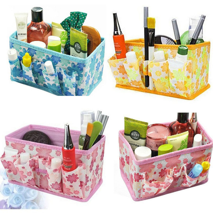 Multifunction Folding Make Up Cosmetic Storage Box Organizer Container Bag Case