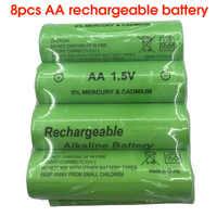 SORAVESS 8 pièces 1.5 V AA Rechargeables Battery3000mah 14500 Piles alcalines Pour Horloge Jouets Lampe De Poche Caméra De Contrôle À Distance
