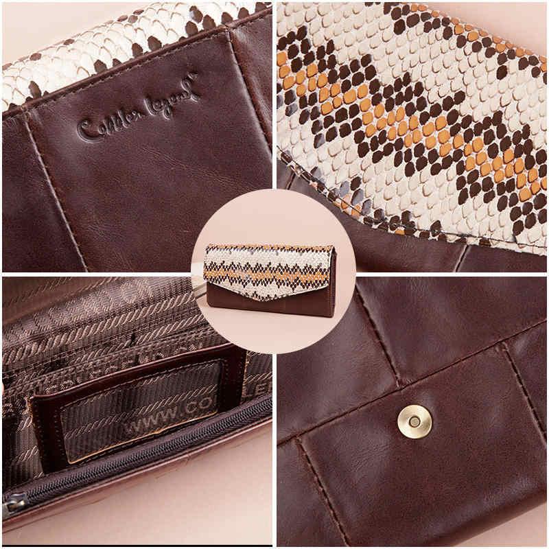 Cobbler Legend 2019 мужские ботильоны, натуральная змеиная кожа, боковая молния кошелек для женщин кошелек клатч сумка брендовый Кошелек для монет лоскутный кошелек длинный женский