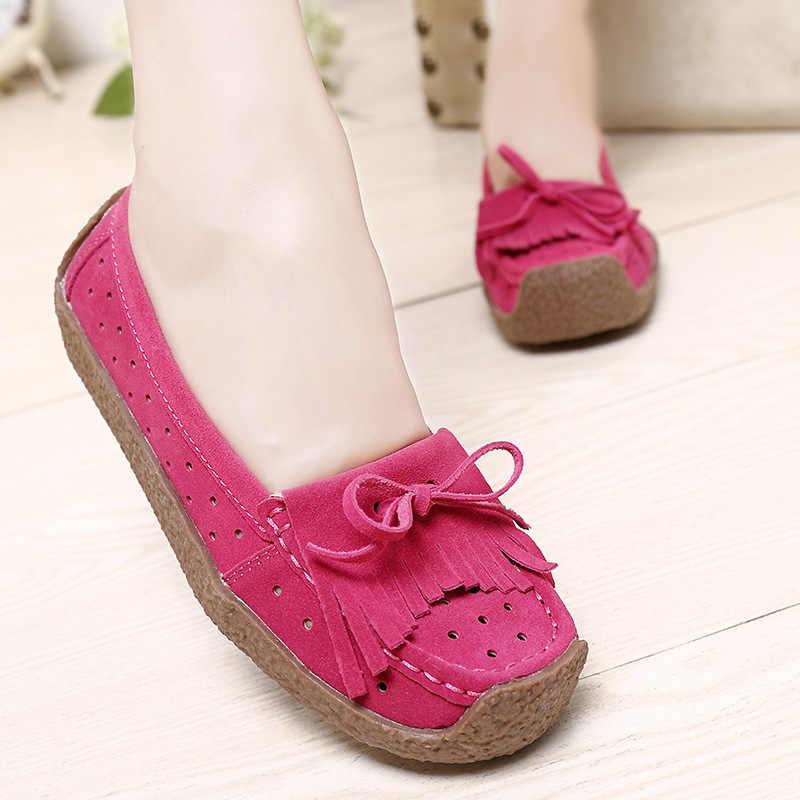 Lente Vrouwen Flats Platform Schoenen Vrouwen Boot Schoenen Kwastje Loafers Slip On Comfort Dames Schoenen Vrouwelijke Mocassins Klimplanten
