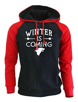 Game Of Thrones Fashion Streetwear Hoodies 2017 Autumn New Arrival Winter Fleece Raglan Sweatshirts Winter Is