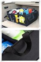 Black Car Trunk Organizer Storage Box for BMW F10 E46 F30 F07 E90 E91 X series 1 2 3 4 5 6 7 series E F series X1 X3 X4 X5 X6