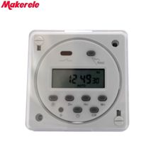 цена на CN101A with Shell LCD Power Digital 12V/24V/110V/220V AC/DC 7 Days Programmable Timer Time Switch Makerele