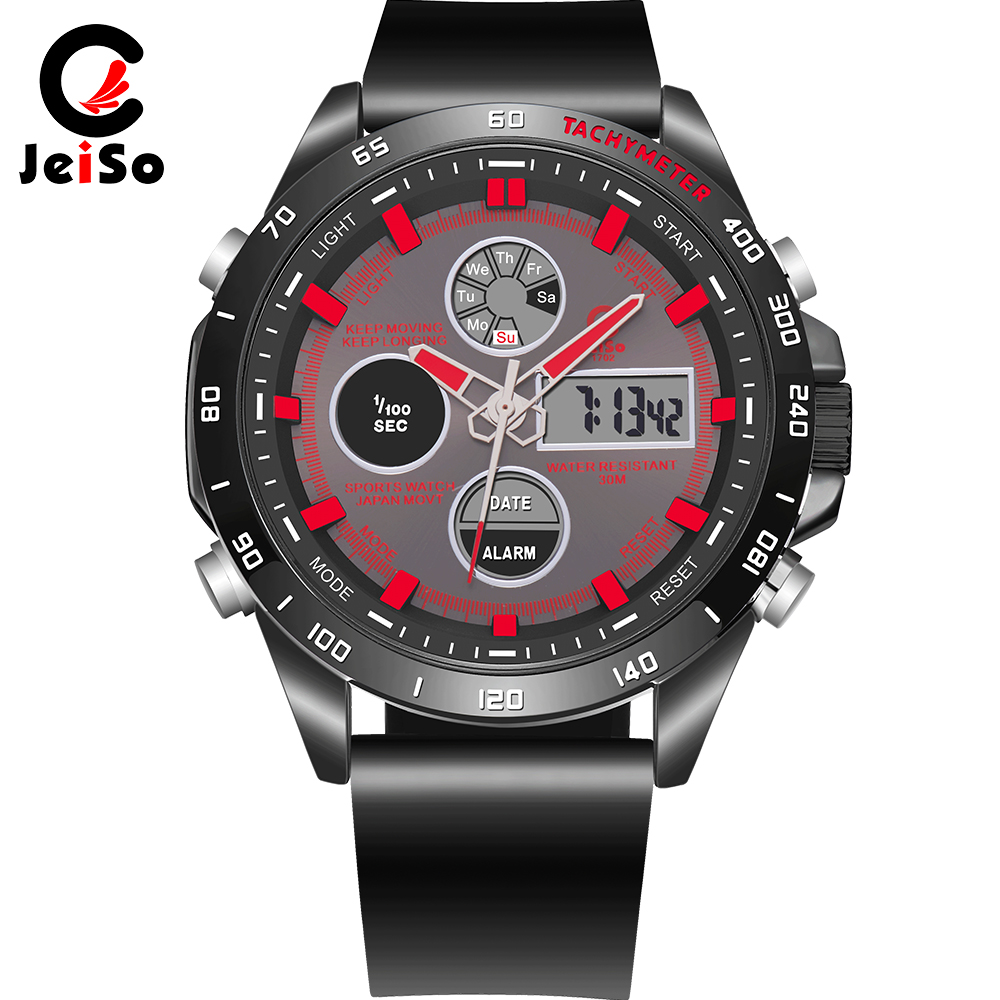 Sports watch double waterproof fashion men watch multi-function digital LED display business smart watch for men's JNB Relogio