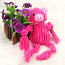 2016New dog toys, PP cotton fill short plush pink pig toy, pet dog and cat toy interactive entertainment