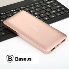 Baseus 10000 мАч банк портативный внешний аккумулятор Dual USB мобильный телефон зарядное устройство для iphone samsung xiaomi powerbank