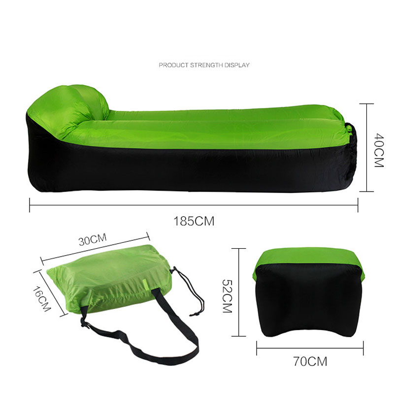 Image 2 - Fast inflatable Air Sofa Bed Outdoor Garden Furniture Camping Waterproof Lazy Sleeping Bags Foldable Protable Air SofaGarden Sofas   -