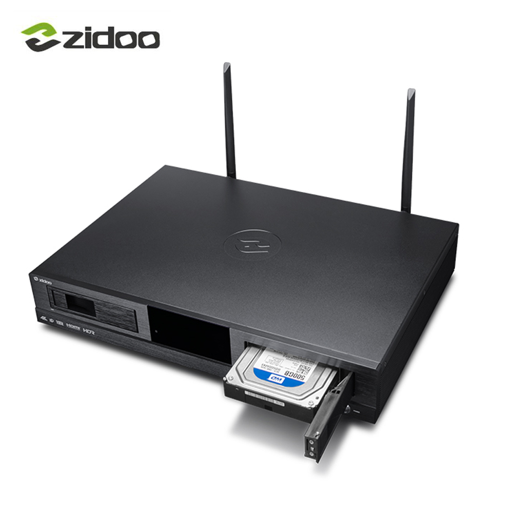 ZIDOO X20 Media Player 2 gb DDR4 16 gb mem Set Top Box 4 k HDR Android TV BOX Double HDMI Double Disque Dur Double Bande Wifi Intelligent tvbox