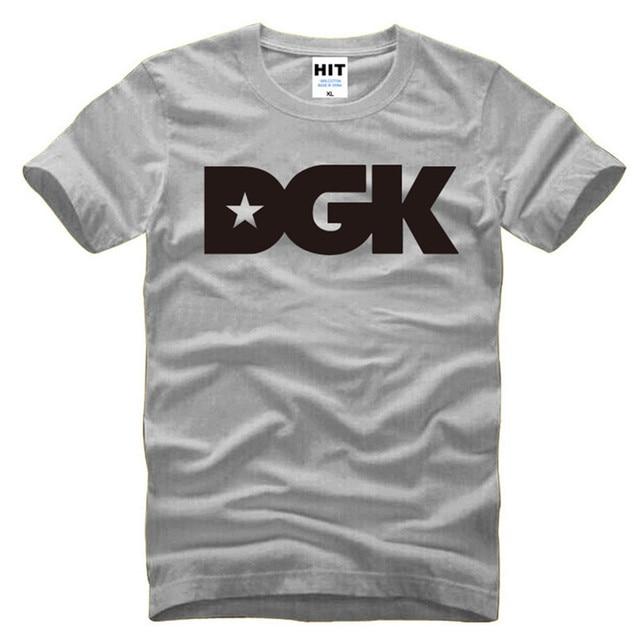 Moda Hip Hop DGK camisetas hombre Street Skateboard impreso manga corta  Camiseta Casual hombres camisetas yangyiyang 2f668ac3962