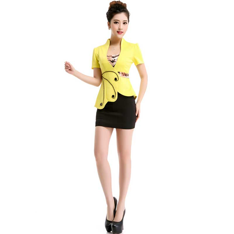 2016 Sexy Korean Occupation Ol Slim Suit Womens Two Piece Clothing