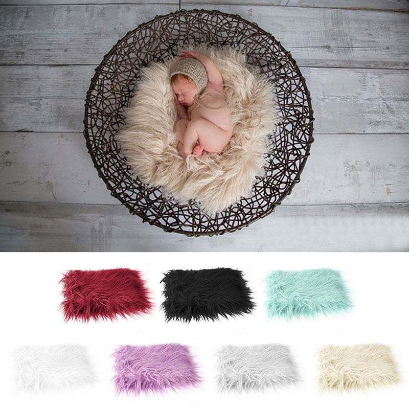 Popular Brand M89cnewborn Baby Infant Soft Faux Fur Rug Mat Blanket Photography Backdrop Props 7 Colors Hot In Exquisite Workmanship