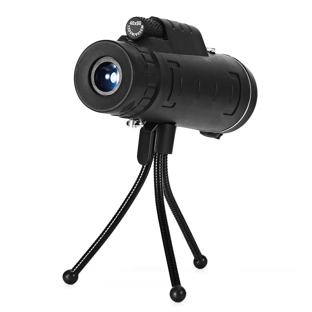 Mounchain Outdoor 40X60 Monocular including compass BAK4 Monocular Telescope HD Night Vision Prism Scope