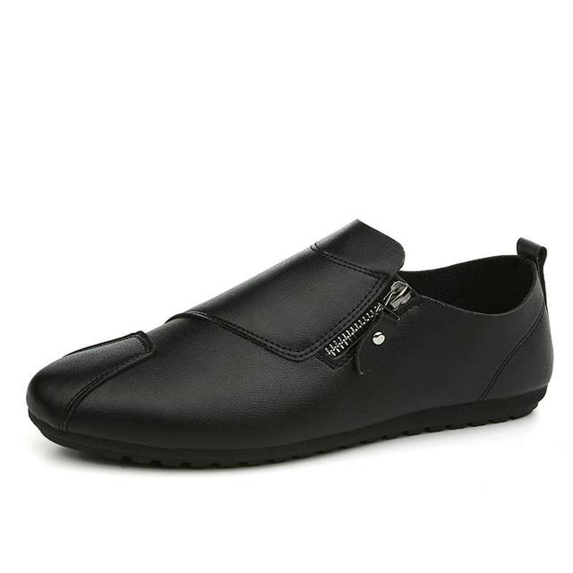 Mocasines estilo europeo nuevos, zapatos plataforma muy suave estilo pescador, zapatos casuales cuatro estaciones.