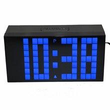 Desktop LED Digital Alarm Clock Countdown Timer with Calendar Temperature Large Numbers Easy Read Battery Back