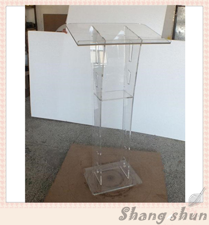 Plexiglass fashion acrylic podium pulpit lectern detachable cheap acrylic church lectern organic glass lectern free shipping organic glass pulpit church acrylic pulpit of the church