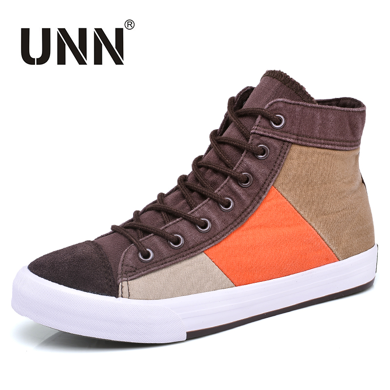 UNN Men Sneakers Fashion Leisure High-top Canvas Shoes For Men Summer Shoes Lace-Up Male Casual Shoes Autumn Zapatos Hombre
