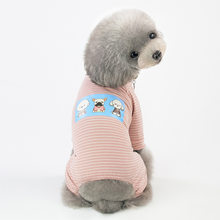 2019 Pet Clothes Comfy Cotton Small Dog Cat Onesie Coat Jumpsuit Puppy Kitten Cat Shirt Pajamas Casual Striped Rompers Overalls(China)