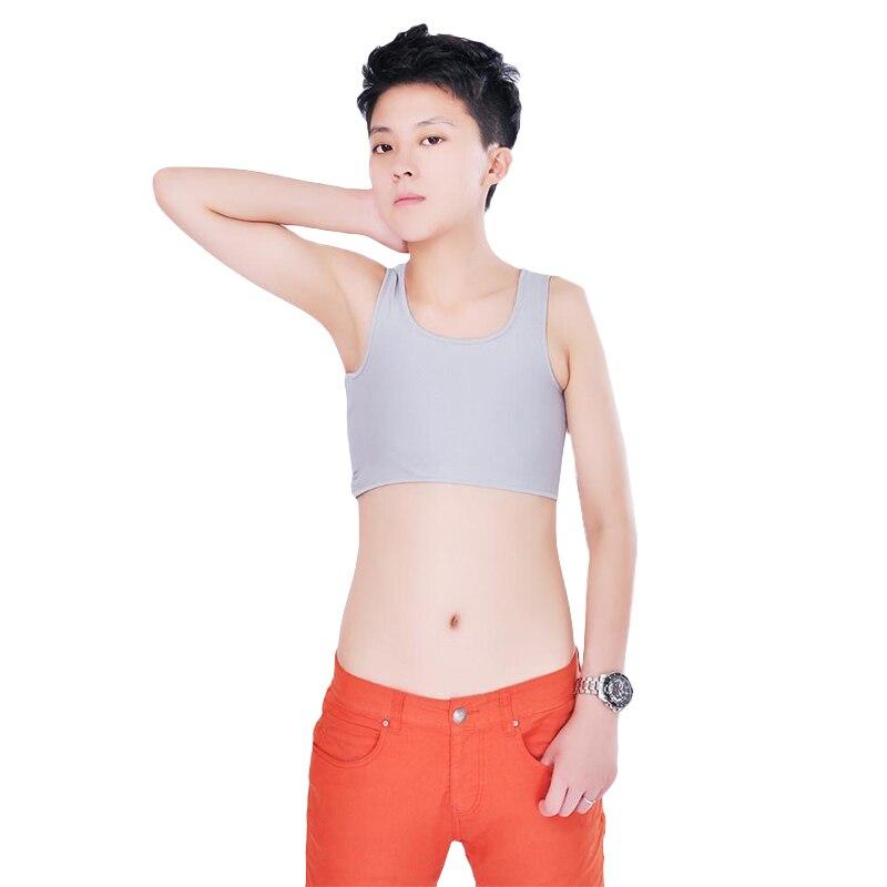 Autumn Casual Crop Top Buckle Tank Top Corset Undershirt Chest Breast Binder Trans GL Lesbian Tomboy Cosplay Vest Tops plus size