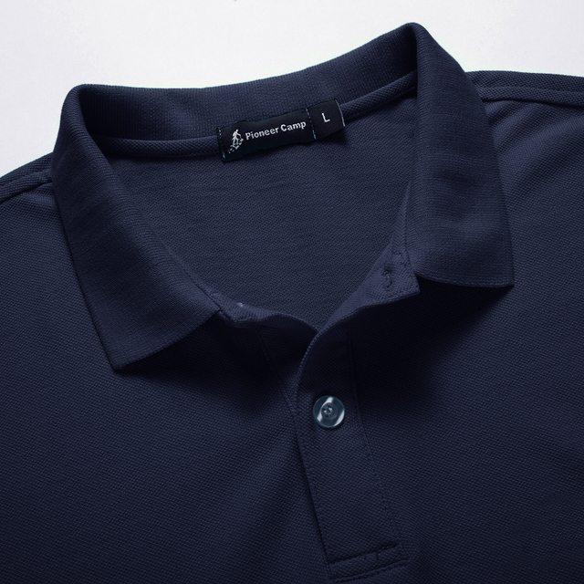 Men Polo Shirt Men Business Casual Solid Male Polo Shirt Short Sleeve High Quality Pure Cotton 3