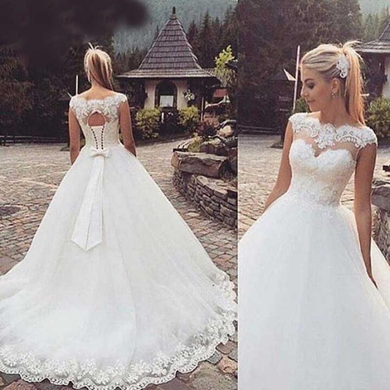 Robe De Mariage в богемном стиле ТРАПЕЦИЕВИДНОЕ свадебное платье es 2018 на заказ платье Vestido De Noiva, большой размер, сатиновый свадебное платье свадебные платья