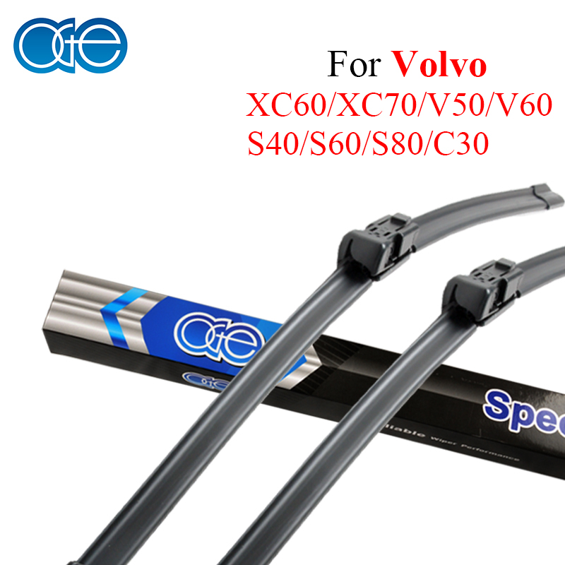 Oge 26''+20'' Wiper Blade For Volvo XC60 XC70 V50 V60 S40 C30 High-Quality Natural Rubber Windscreen Car Auto Accessories