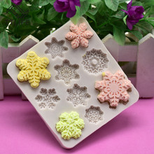 TTLIFE Snowflake Silicone Mold Square Frame Fondant Cake Decorating Tools Confeitaria Chocolate Template Gumpaste Baking Moulds