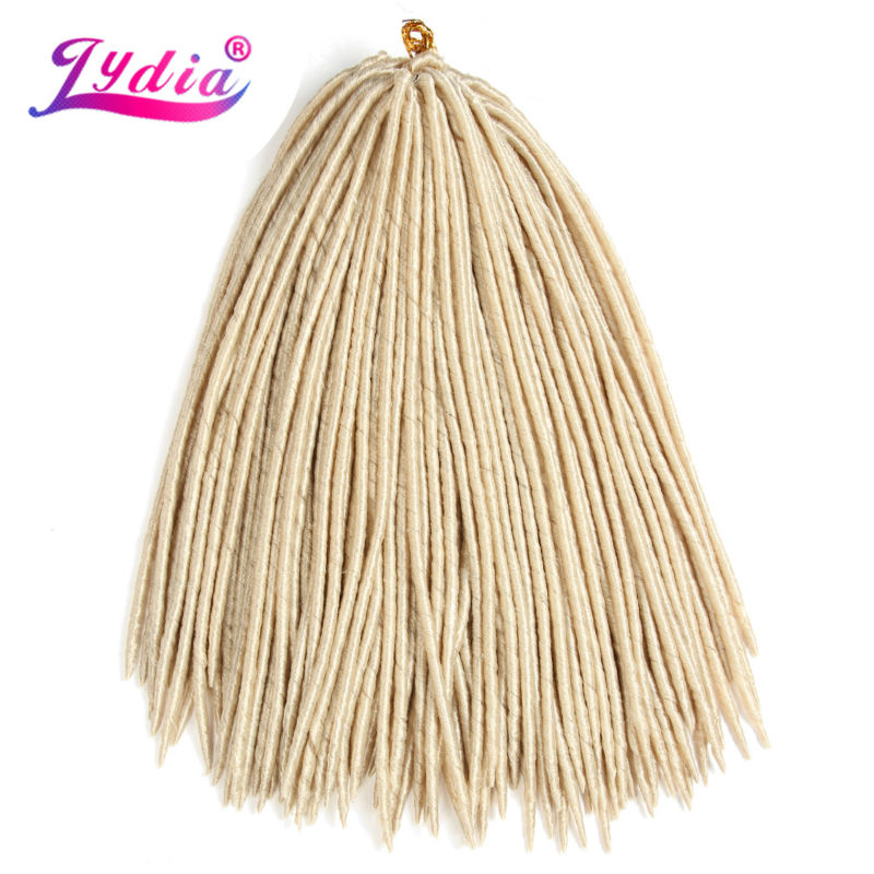 Lydia 3Pcs / Lot 18 tums Soft Dreadlock 24strands / pack Braiding - Syntetiskt hår