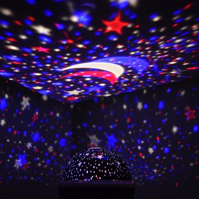 Zon Ster Verlichting Led Lamp Romantische Kamer Roterende Kosmos ...