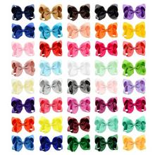 Colorful Solid Ribbon Grosgrain Hair Bow