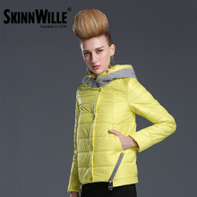 SKINNWILLE2016 New Spring Warm Cotton Clothing Cotton padded Coat Women's Clothing Three Quarter Sleeve Coat Jacket Windbreaker