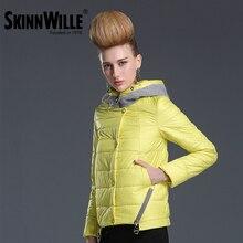 SKINNWILLE2017 New Spring Warm Cotton Clothing Cotton padded Coat Women's Clothing Three Quarter Sleeve Coat Jacket Windbreaker