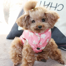 Star Dog Clothes Winter Warm Pet Jacket Coat Puppy French Bulldog Yorkshire Vest Cappotto Cane Pets Outfits 5JK20