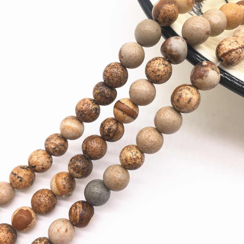 Großhandel 6/8/10mm Natürliche Stein Perle Schwarz Lava Tiger Auge Groß Matte Lose Stein Perlen Für machen Armband Halskette Schmuck #02