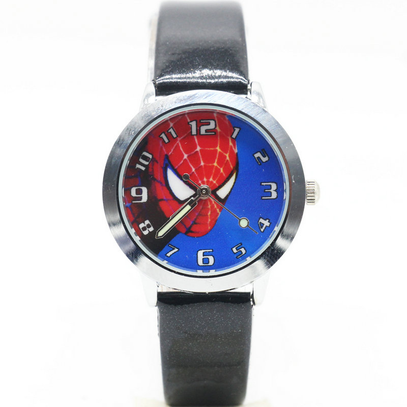 Watches New Fashion Spiderman Watches Children Watch Women Cute Cartoon Watch Kids Cool Quartz Watch Relogio Clock Hour Gift