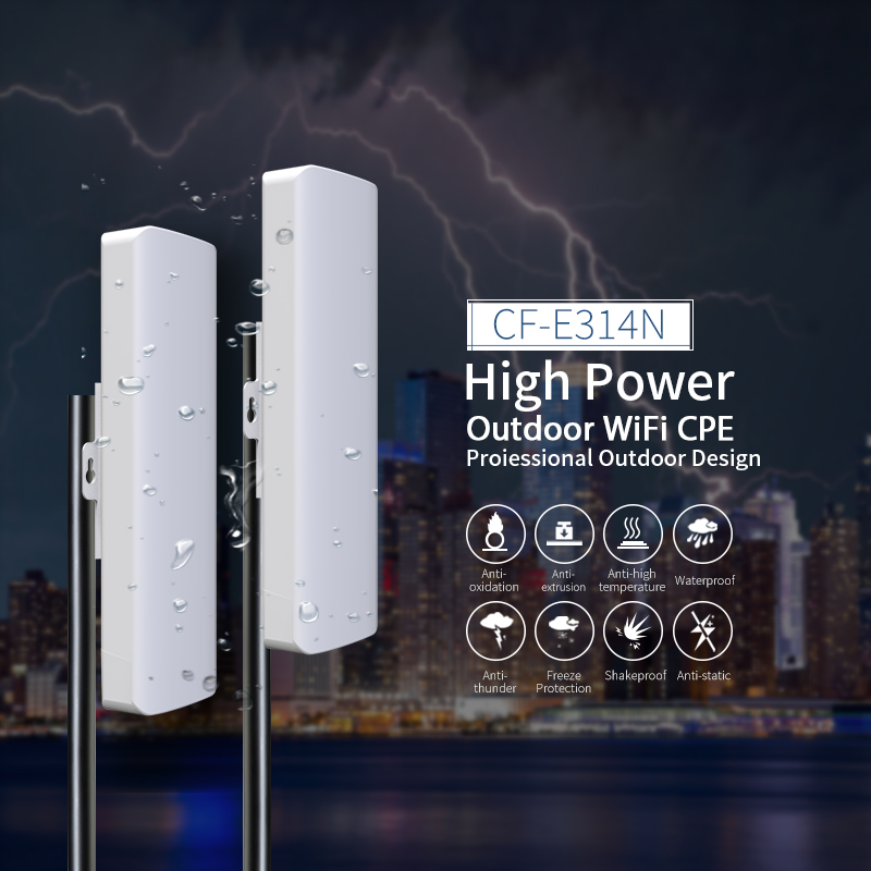 2pcs 27dBm High Power Outdoor Wifi Repeater Bridge 2.4Ghz 300Mbs Elevator Ip cam Wireless Wifi Router AP WISP Wifi Extender outdoor wifi repeater 2 4gwireless wifi amplifier with ap wisp 27dbm wifi router high power wifi extender base station ap