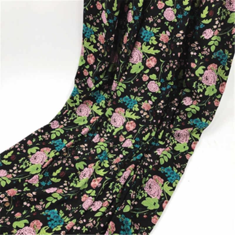 花印刷ドレス布ポリエステルシフォン無地生地カーテンドレススカーフ作る GD14