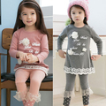 suit Spring 2017 new south Korean style letters girls children children's wear long sleeve T-shirt leggings suit of tz - 0607