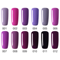 NEW 12 colors Hot Sale Healthy and Eco-friendly Purple Gel Nail Polish Soak Off Gel Lucky 10ML UV Nail Varnish Gouserv