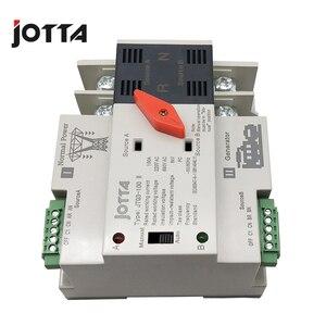 Image 4 - Jotta W2R 2P 110 V/220 V Mini Ats Automatische Overdracht Schakelaar 100A 2P Elektrische Selector Schakelaars Dual Power schakelaar Din Rail Type