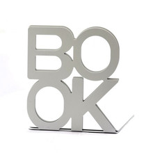 Coloffice 2PCS/Lot Colorful BOOK Large Business Bookends Desk Organizer Desktop Office Home Book Holder Bookends For Student