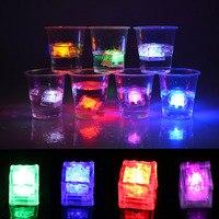12Pcs LED Ice Cubes Color Change Water Sensor Glow Light For Romantic Wedding Party Decor Bar