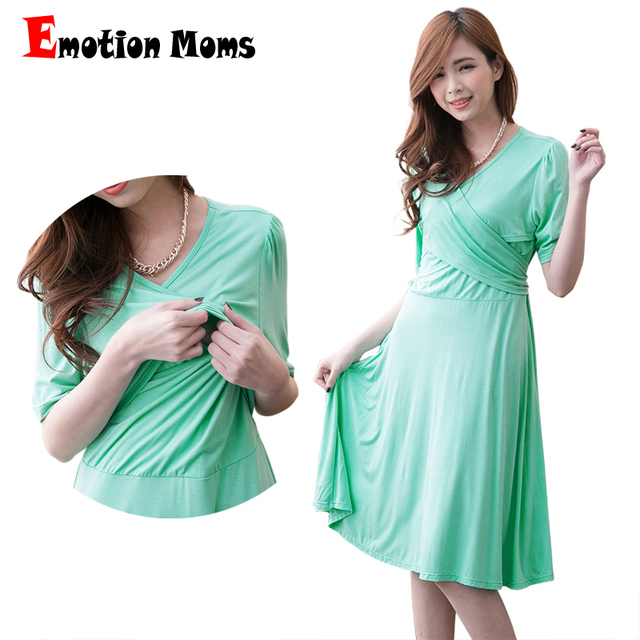 Emotion Moms summer Breastfeeding Clothes nursing maternity clothes for Pregnant Women Fashion maternity Dresses pregnancy dress